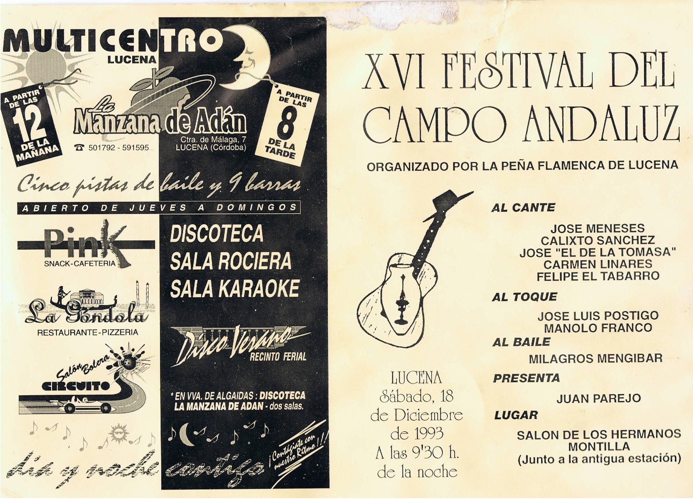 1993 - XVI Festival del Campo Andaluz (1)